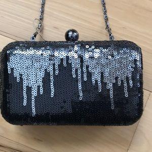 Sequined box purse.  EUC